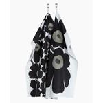 Marimekko Unikko -keittiöpyyhe 47x70cm 2kpl, valkoinen/musta
