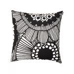 Marimekko Siirtolapuutarha -tyynynpäällinen 50x50 cm mustavalkoinen