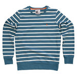 Pokko Reborn Petrol & White Striped Men's Sweatshirt
