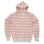 Pokko Reborn Sand & Red Striped Men's Hoodie