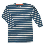 Pokko Reborn Petrol & White Striped Women's College Shirt