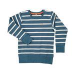 Pokko Reborn Petrol & White Striped Kids Sweatshirt