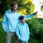 INTO Original hoodie, baby blue