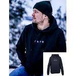 INTO Horizontal hoodie, musta