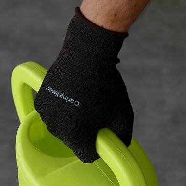 Caring Hands Antimikrobiset Kuparikäsineet Musta